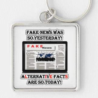 Fake News & Alternative Facts Premium Sq Keychain