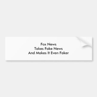 Fake News Bumper Sticker