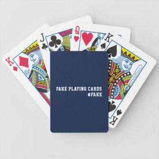Fake News Humor Fake Bicycle Playing Cards