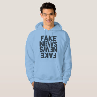Fake News Post Truth Mirror Hoodie