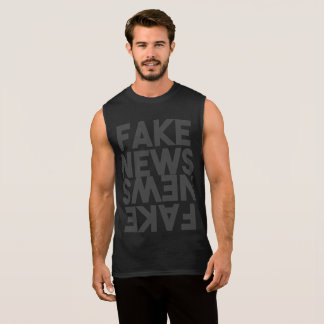 Fake News Post Truth Mirror Sleeveless Shirt