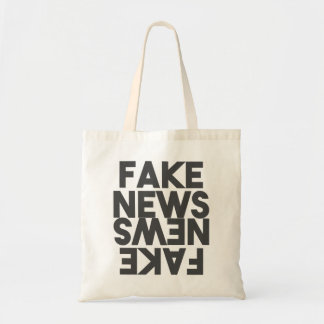 Fake News Post Truth Mirror Tote Bag