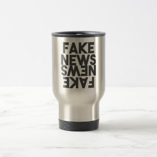 Fake News Post Truth Mirror Travel Mug