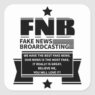 Fake News Square Sticker