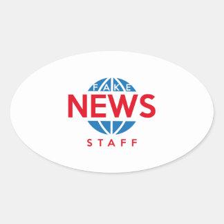 Fake News Staff Oval Sticker