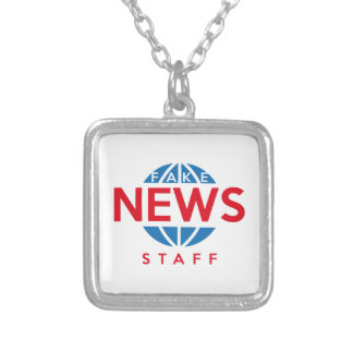 Fake News Staff Silver Plated Necklace