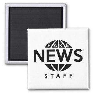 Fake News Staff Square Magnet