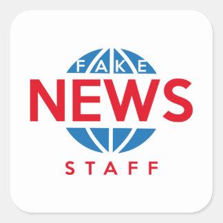Fake News Staff Square Sticker