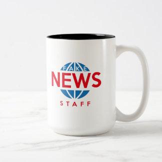 Fake News Staff Two-Tone Coffee Mug