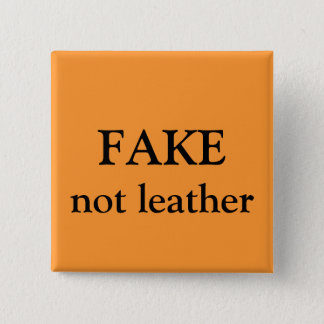 FAKE not leather 2 Inch Square Button