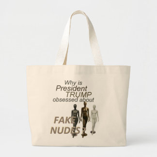 Fake NUDES News Large Tote Bag