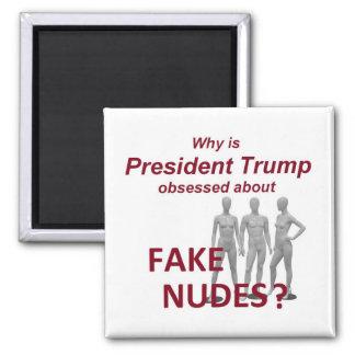 Fake NUDES News Square Magnet