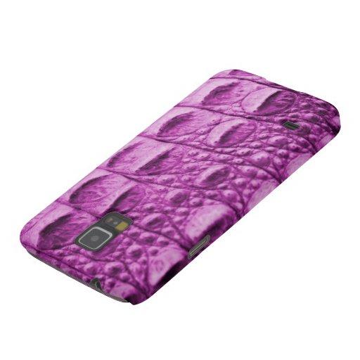 Fake pink croc skin galaxy nexus cases