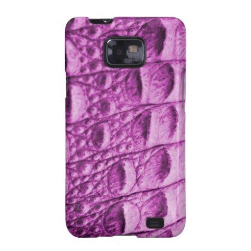Fake pink croc skin samsung galaxy s2 case