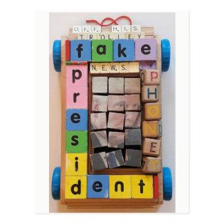 Fake President Postcard