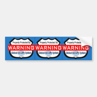 Fake Security Stickers, Window Decals- 3 per Sheet Bumper Sticker