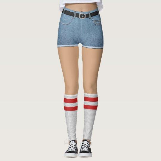 b498867d7ab Fake Shorts and Socks Leggings