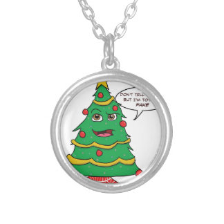 Fake Tree Silver Plated Necklace