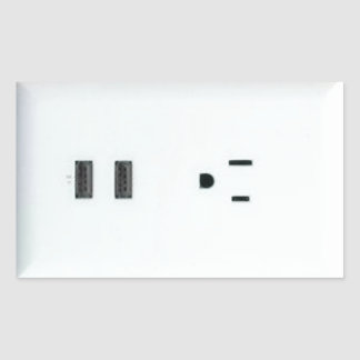Fake USB Outlet Sticker
