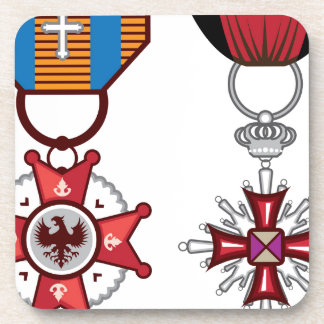Fake vector Military Medals / orders Drink Coasters