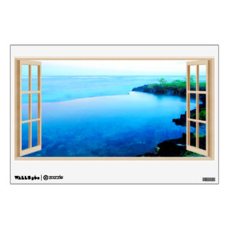 Fake Window Samoa Tropical Ocean Pool Wall Sticker