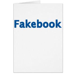 Fakebook Card