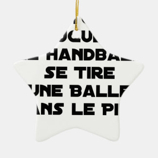 FAKED MATCHES, HANDBALL SE DRAWS A BALL IN CERAMIC ORNAMENT