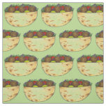 Falafel, Lettuce, and Tomato Pita Foodie Fabric