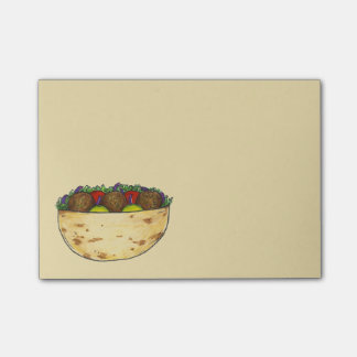 Falafel Pita Mediterranean Food Sandwich Post Its Post-it Notes
