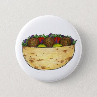 Falafel Pita Sandwich Food Foodie Button