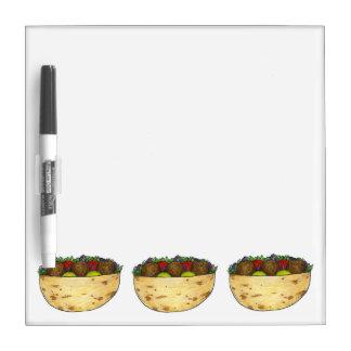 Falafel Pita Sandwich Food Foodie Gift Dry Erase Board