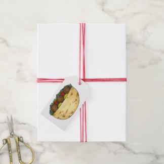 Falafel Pita Sandwich Food Foodie Gift Tag