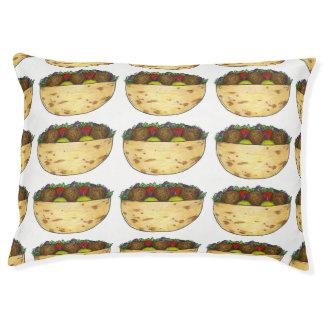 Falafel Pita Sandwich Food Foodie Print Dog Bed
