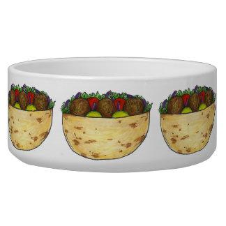 Falafel Pita Sandwich Food Foodie Print Dog Bowl