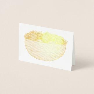 Falafel Pita Sandwich Mediterranean Food Foodie Foil Card