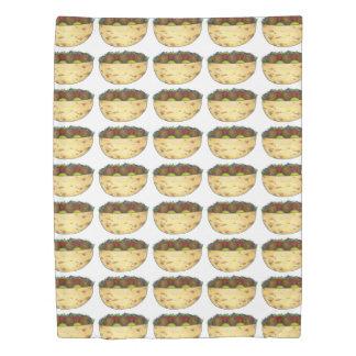 Falafel Pita Sandwich Mediterranean Food Print Bed Duvet Cover
