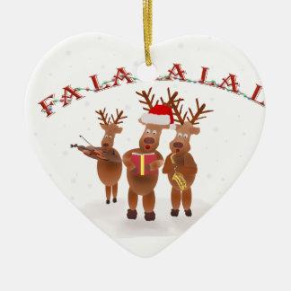 FALALALA.png Ceramic Heart Ornament