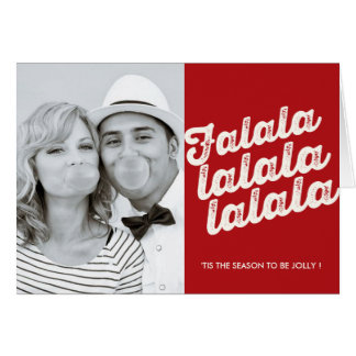 Falalalala Christmas Photo Holiday Greeting Card
