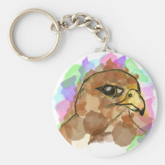 Falcon Basic Round Button Keychain