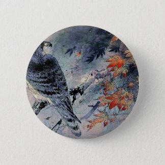 Falcon Bird Japanese print 2 Inch Round Button