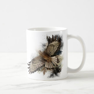 Falcon in flight coffee mug
