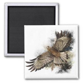Falcon in flight magnet