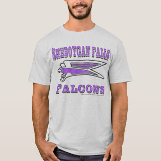 falcon stretched with words black and purple T-Shirt