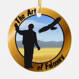 Falconer round ornament