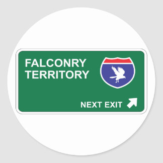 Falconry Next Exit Classic Round Sticker