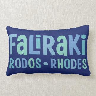 Faliraki Rhodes throw pillows