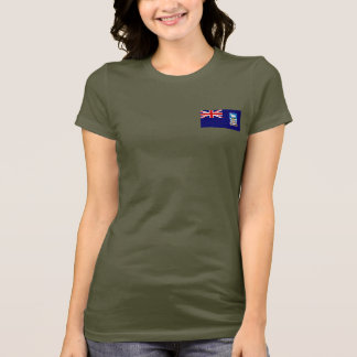 Falkland Islands Flag and Map dk T-Shirt