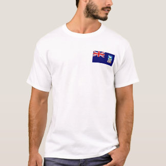 Falkland Islands Flag and Map T-Shirt