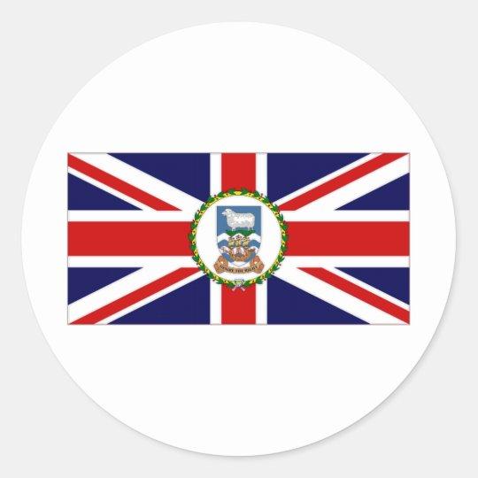 Falkland Islands Flag Classic Round Sticker