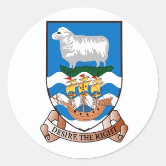Falkland Islands (Malvinas) FK Classic Round Sticker